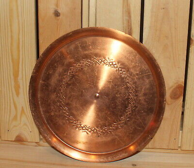 Vintage hand made copper tray plate
