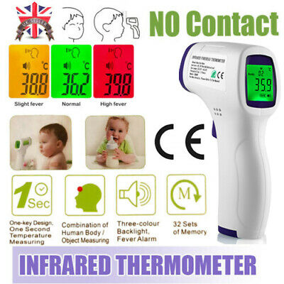 Digital LCD Thermometer Infrared Forehead Non-touch Baby Adult Temperature Gun