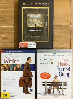 Tom Hanks 3 DVDS-The Terminal | Forrest Gump| Saving Private Ryan