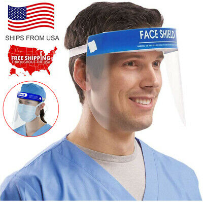 Safety Anti-fog Full Face Shield With Clear Transparent Work Industry Dental Lot