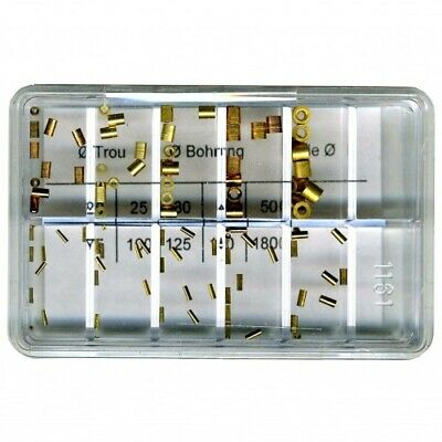 Brass Clock Bushes for Clocks 0.20-1.80mm Hole 100 pieces Swiss Made - CY14
