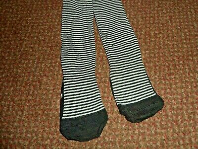 new Girls funky black and grey striped Tights 2 - 3 YEARS - BNWOT