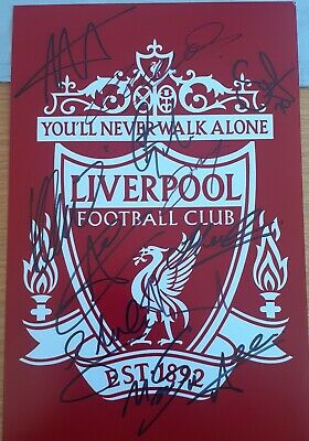 Liverpool Crest photo hand signed by 12  12x8