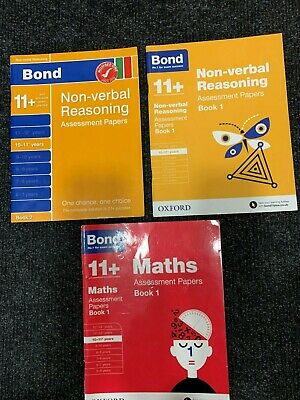 Bond 11 plus books 10-11 years. Non Vebal Reasoning & Maths.