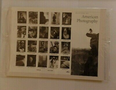 SCOTT #3649a-t AMERICAN PHOTOGRAPHY 37c MNH 20 STAMPS, SEALED IN ORGINAL USPS PK
