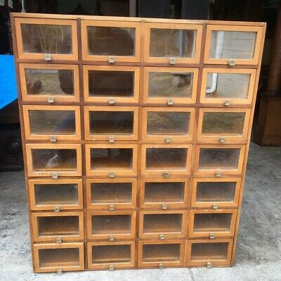 Antique Country Store Counter Apothecary Cabinet