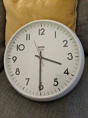 Vintage Retro 12 Inch Industrial Factory Smiths Delhi Battery Wall Clock