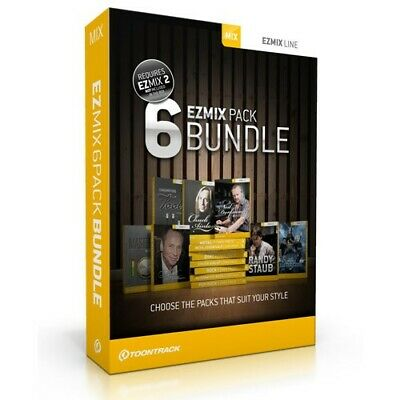 Toontrack EzMix 6 Pack Custom Bundle - Genuine Licenses - Digital Delivery
