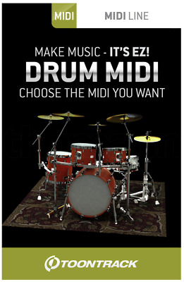 Toontrack EZDrummer MIDI Pack License Serial - ANY MIDI PACK! - Digital Delivery