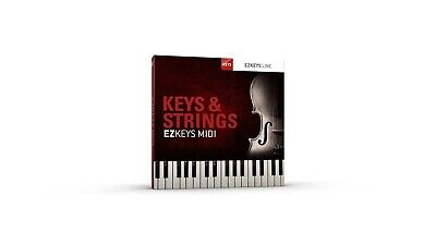 Toontrack MIDI EZ Keys Pack - Keys & Strings - Genuine Serial License Key
