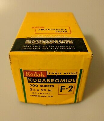 TESTED! 500 Sheets Of Expired Kodak Kodabromide  Black And White Photo Paper