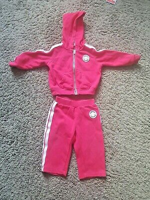 Baby Girls Tracksuit By Converse Size 12 Months 75-80Cm