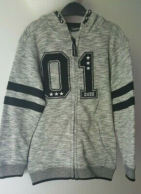Boys Grey Hooded Jacket - Size 5-6 Years - New with Tags