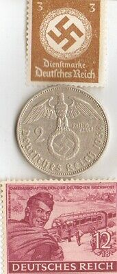 *egyp. *king 'TUT' coin + WW2 -*german SILVER EAGLE + zink coins + RARE  stamps