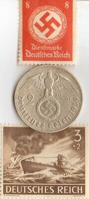 *Free *king 'TUT' coin +-*WWII - *german SILVER EAGLE coins/stamps