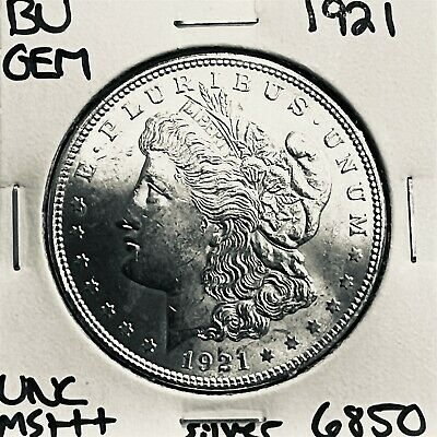 1921 Bu Gem Morgan Silver Dollar Unc Ms+++ U.s. Mint Rare Coin 6850