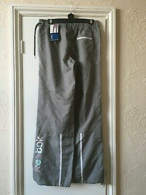 Reebok Women's Space Grey Gym Woven pants tracksuit bottoms size S BNWT