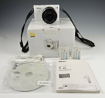 Nikon 1 J4 18.4MP Digital SLR Camera White + 10-30mm Nikkor Lens + MicroSD & Box