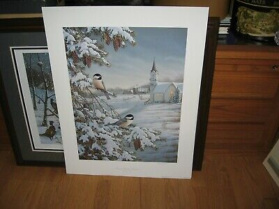 Special Delivery Chickadees By Michael Budden Country Print Signed and Numbered