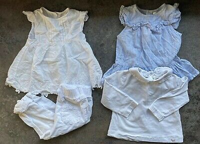 baby girls White summer clothes bundle 12-18 months Zara Next Tops & Trousers