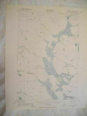 1954 Churchill Lake ME Maine USGS Topographic Topo Map
