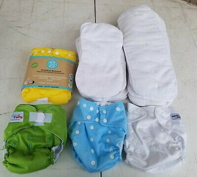 Charlie Banana Royal Fluff ones&twos Cloth Diapers and Insert pads