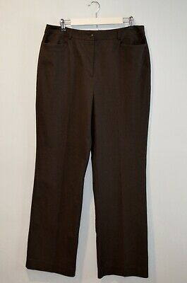 Chico's Women's Brown Dress Pants Straight Leg Size 2.5 Chicos or 14 Reg