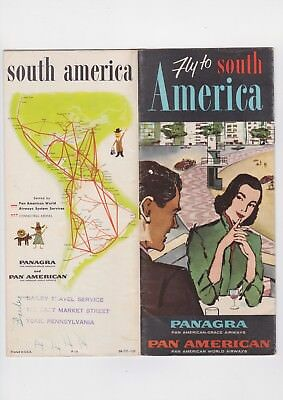 1957 Pan America Airways Travel Brochure South America Panama Argentina Brazil +
