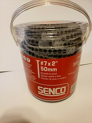Senco 07A200P DuraSpin No. 7 by 2-Inch Drywall to Wood Collated Screw 1000 per