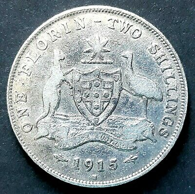 1915 'H' Australian FLORIN in Fine or better condition - see photos