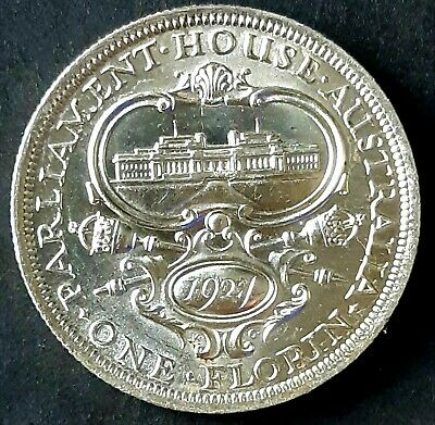 1927 Australian 'Canberra' FLORIN in UNCIRCULATED condition - see photos