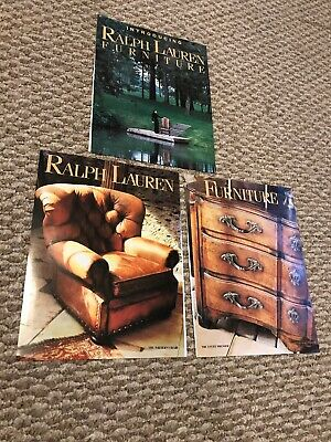 Ralph Lauren Furniture 3 page Fall 1994 Ad Vintage/Magazine/Print/ Nature 90s