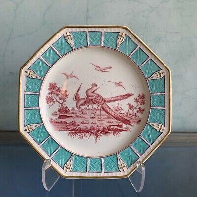 Wedgwood plate, exotic bird 1883