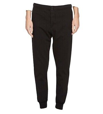 Bassike classic slim tapered tracksuit pants Womens black size S