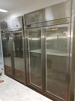 Williams freezer commercial caffe restaurant bar delli shop2 glass doors s.s.