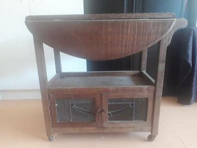 Silky Oak Antique Food Trolly