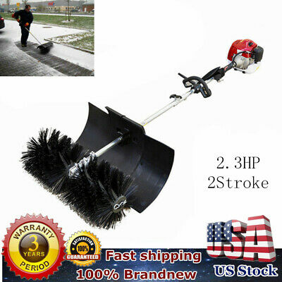 52cc GAS POWER HAND HELD CLEANING SWEEPER BROOM DRIVEWAY TURF ARTIFICIAL TOP
