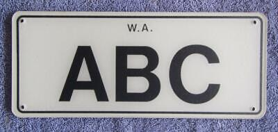 Poly Wa License/Number Plate # Abc