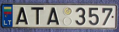Lithuania License/Number Plate # Ata 357