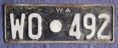 1956-68 Shire License/Number Plate # Wo.492