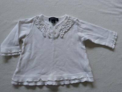PUMPKIN PATCH girls white top size 3-6 months - $3 post option