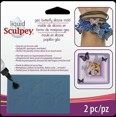 SCULPEY - Liquid Clay Mold - GEO BUTTERFLY - BAKEABLE SILICONE MOULD + Squeegee