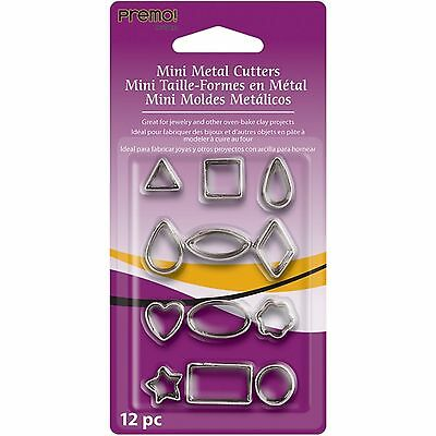 Sculpey - Premo Mini Metal Cutters - 12  Pieces - Basic / Geometric Shapes