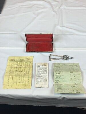 Schiotz Tonometer with Case and Instructions Germany Used