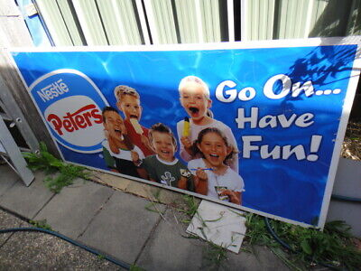 Nesto Peters go on have fun metal sign large sign 180cm long x 90cm high i been