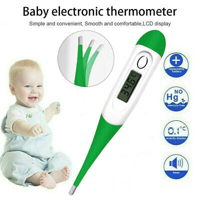 Digital LCD Thermometer Medical Baby Adult Body Kids Safe Ear Mouth Temperature