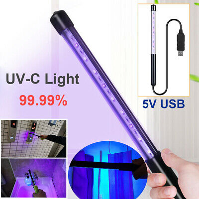 Portable Sterilize UV-C Light Germicidal UV Lamp Home Handheld Disinfection USB