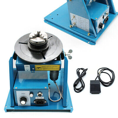 110V Rotary Welding Positioner Turntable Table Mini Jaw Lathe Chuck 2-10 r/min