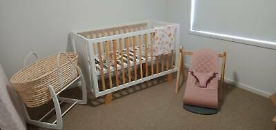 Brand new Cot- white and natural
