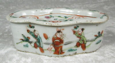 Antique Chinese Porcelain Cricket Box Hand Painted 4-3/4 x 2-3/4 x 1-5/8 inch